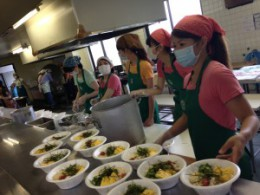 August 5th, 2013 We Provided 150 Meals at our Monthly Soup Kitchen at the Last Earthquake Shelter!