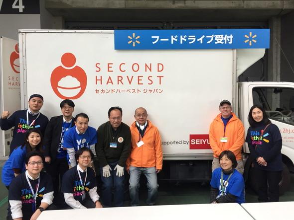 西友・ウォルマートジャパン様が社内イベントで、西友全店からの参加者を対象に「フードドライブ」形式での食品寄付を実施
